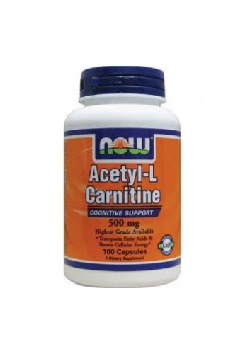 NOW Acetyl-L-Carnitine 500 mg 100 caps