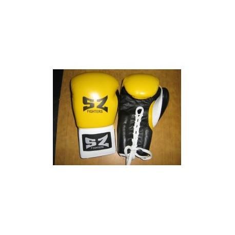 SZ Fighters Боксови ръкавици (Естествена кожа с връзки)
