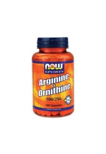 NOW Arginine/Ornithine 100caps