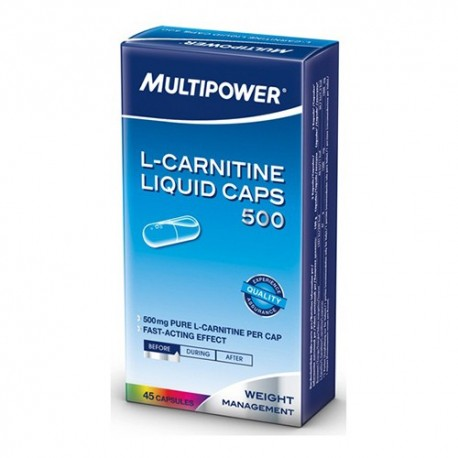 Multipower L-carnitine Liquid Caps 500 45caps.