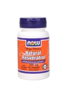 NOW Mega Resveratrol 200mg. 120caps.