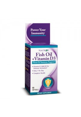 Natrol Fish Oil & Vitamin D3 90 softgels
