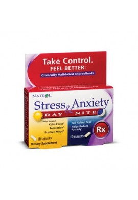 Natrol Stress & Anxiety Day & Nite Formula 10+10 tabs