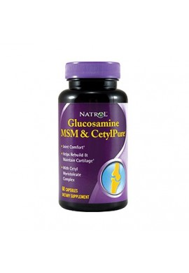 Natrol Glucosamine MSM & CetylPure 60 caps