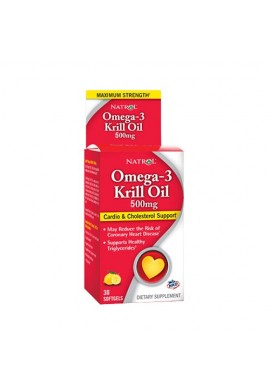Natrol Omega-3 Krill Oil 500 mg 30 softgels