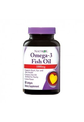 Natrol Omega-3 Fish Oil 1000mg 60 softgels
