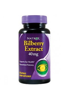Natrol Bilberry Extract 40 mg 60 caps