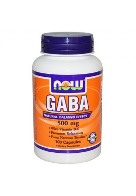 NOW GABA 500 mg + B6 - 100 капсули