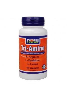 NOW Tri-Amino Arginine/Ornitine/Lysine 60 капсули 775 mg