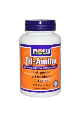 NOW Tri-Amino Arginine/Ornitine/Lysine 120 капсули 775 mg