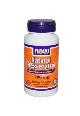 NOW Natural Resveratrol - 60 капсули
