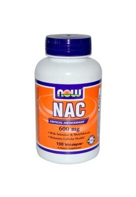 NOW N-Acetyl Cysteine 600 mg - 100 капсули