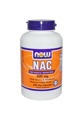 NOW N-Acetyl Cysteine 600 mg - 250 капсули