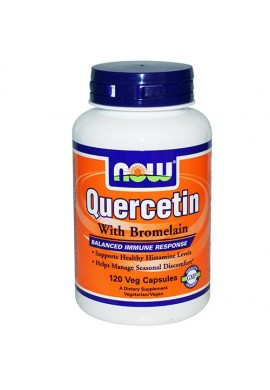NOW Quercetin with Bromelain - 120 капсули