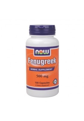 NOW Fenugreek 500 mg - 100 капсули