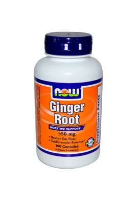 NOW Ginger Root 550 mg - 100 капсули