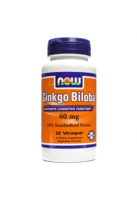 NOW Ginkgo Biloba 60 mg - 60 капсули