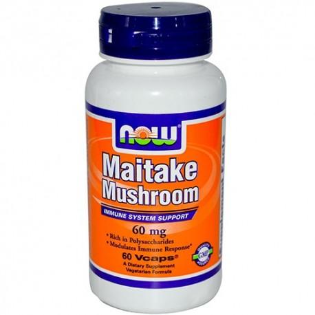 NOW Maitake Mushroom 60 mg - 60 капсули