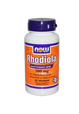 NOW Rhodiola 500 mg - 60 капсули