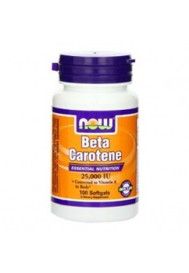 NOW Beta Carotene 25000 IU - 100 дражета