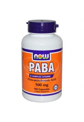 NOW PABA 500 mg - 100 капсули