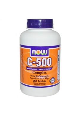 NOW Витамин C-500 RH - 250 таблетки
