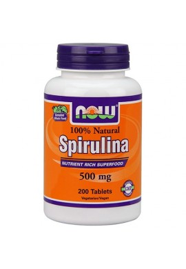 NOW Spirulina 500 mg - 200 таблетки