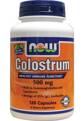 NOW Colostrum 500 mg - 120 капсули