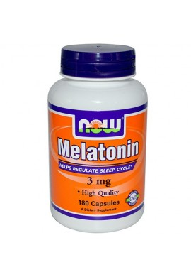 NOW Melatonin 3 mg - 180 капсули