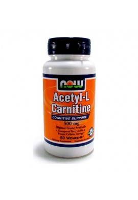 NOW Acetyl L-Carnitine 500 mg - 50 капсули