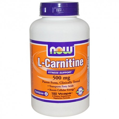 NOW L-Carnitine 500 mg - 180 капсули