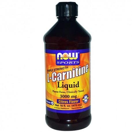 NOW L-Carnitine Liquid Citrus 465 ml - 93 g