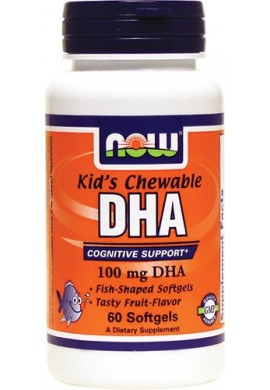 NOW DHA 100 mg Kid's Chewable - 60 дражета