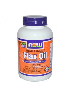 NOW Flax Oil (High Lignan) 1000 mg - 120 дражета