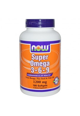 NOW Super Omega 3-6-9 1200 mg - 90 дражета