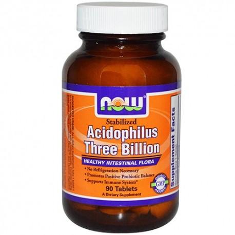 NOW Acidophilus Stabilized 3 Billion - 90 таблетки