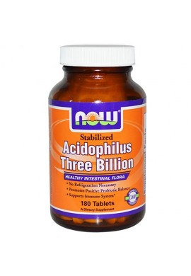 NOW Acidophilus Stabilized 3 Billion - 180 таблетки