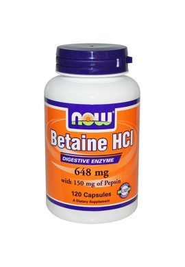 NOW Betaine HCl 648 mg - 120 капсули