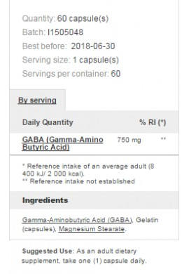 Prozis Foods GABA 750 mg 60 caps