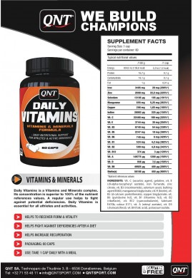 QNT Daily Vitamins 60 caps