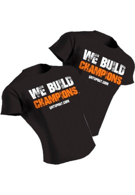 QNT Black T-Shirt - We Build Champions
