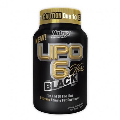 NUTREX LIPO-6 BLACK HERS 120caps.