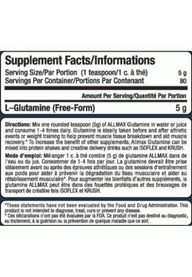 ALLmax L-Glutamine 100gr.