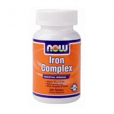 NOW Iron Complex (Комплекс желязо) - 100 tabs.