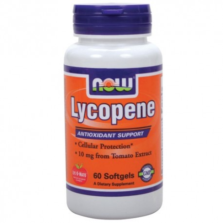 NOW Lycopene 10mg. 60sgels