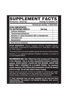 Nutrex Lipo 6 Black Extreme Potency 120 caps.