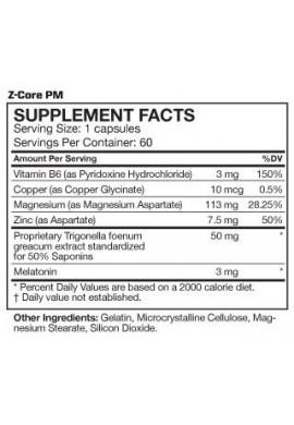 MusclePharm Z-Core PM 60 caps
