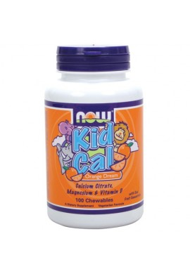 NOW Kid Cal 100 coated tabs.