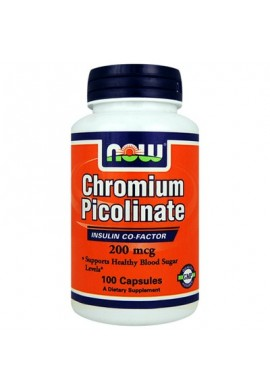 NOW Chromium Picolinate 200mcg. 100caps.