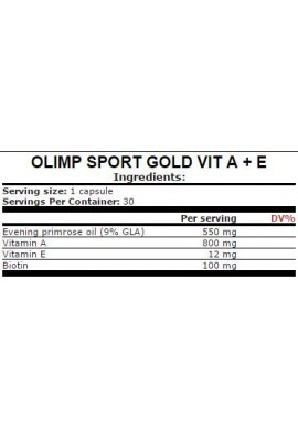 OLIMP Gold Vit A+E 30caps.